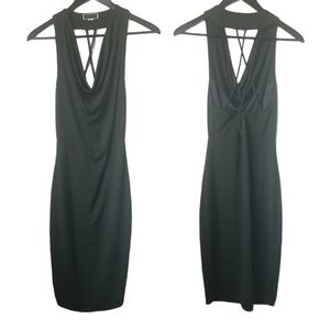 Another story women's green fitted dress cowl neck